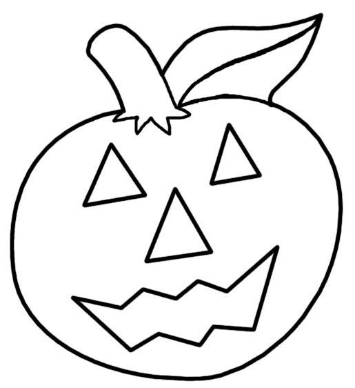 Plantilla o molde para hacer calabaza de fieltro en Halloween