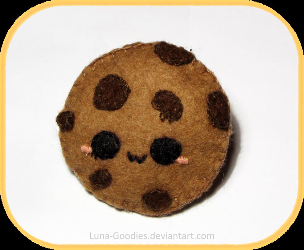 Broche de fieltro con forma de cookie, estilo aponés kawaii