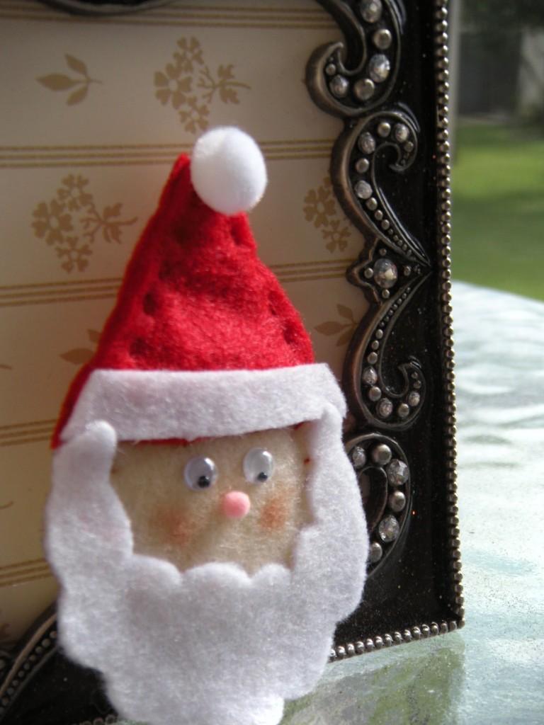 Broche de fieltro de Papa Noel o Santa Claus para Navidad