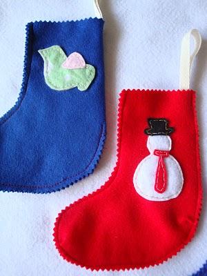 Calcetín de Navidad en fieltro en forma de calcetín