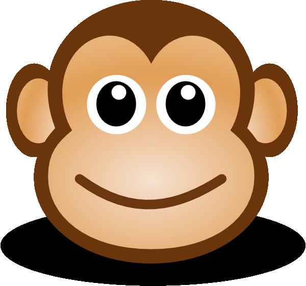 Dibujo Plantilla cara de mono para manualidades en fieltro y tela
