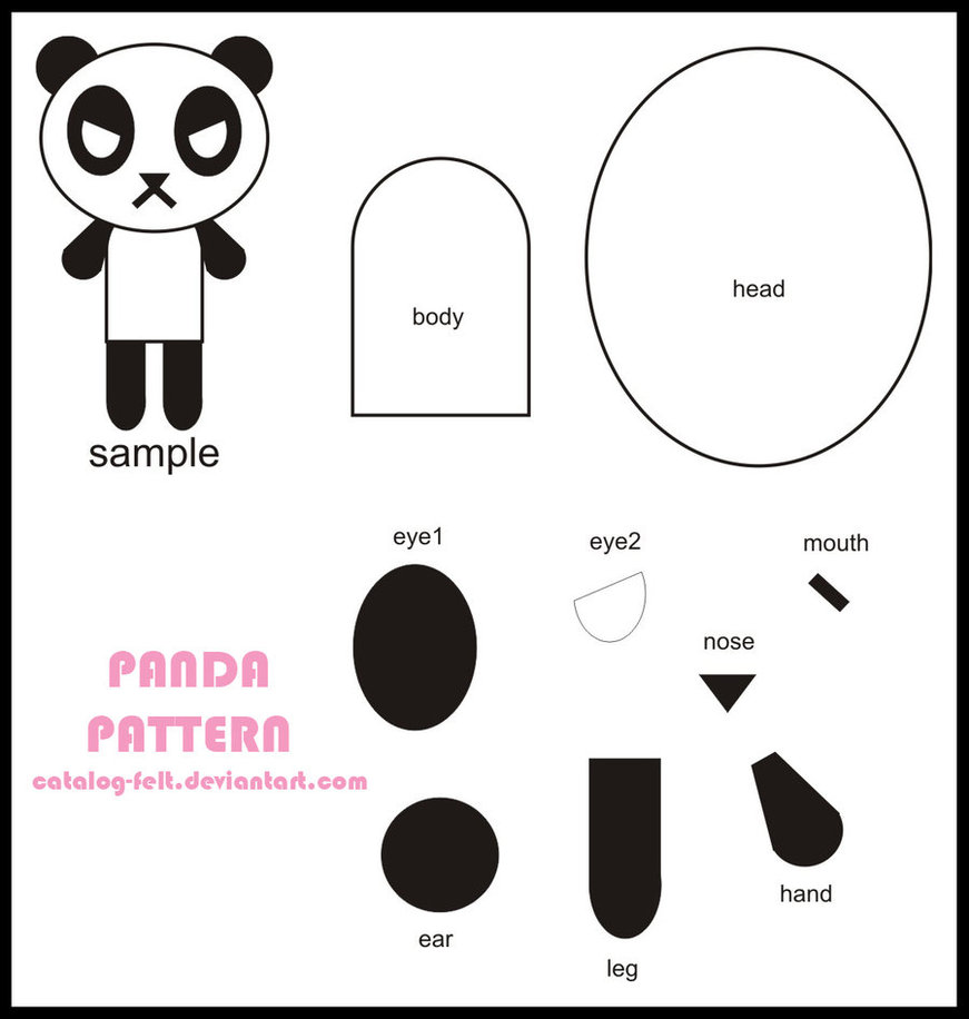 Oso Panda | Broches de Fieltro | ideas y trucos para Broches de ...