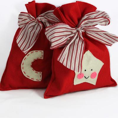 Bolsa decorada con estrella para Navidad