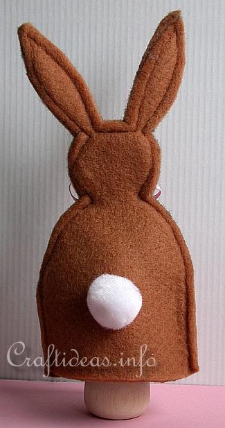 Marioneta Mano Conejo por detrás