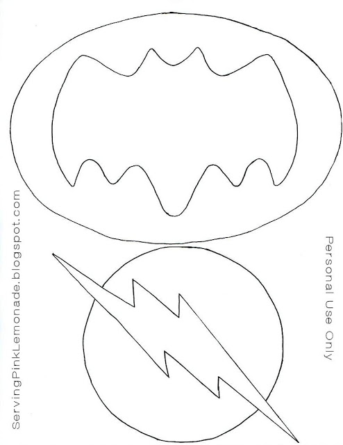 Logo batman y flash fieltro