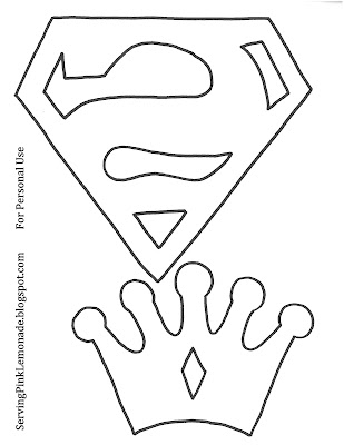 Molde logo Superman Fieltro