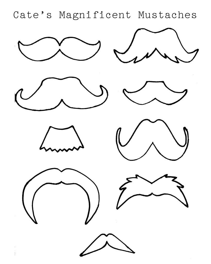 Mustache Outline Template