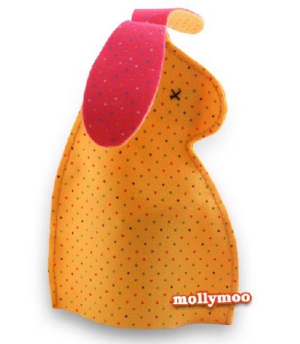 Marioneta Conejo de pascua en tela y fieltro