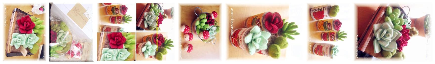 Manualidades de fieltro, cactus en macetas y latas para decorar