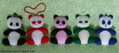Mini peluches panda