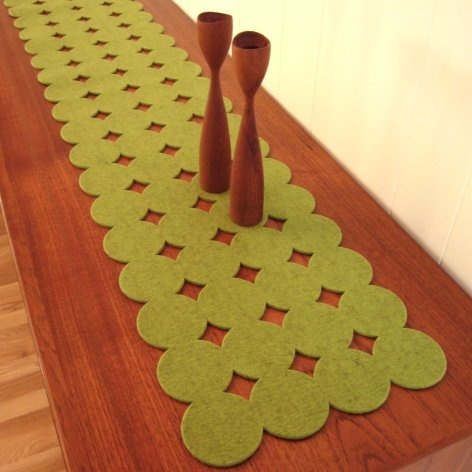 corredor de mesa broches de fieltro ideas y trucos