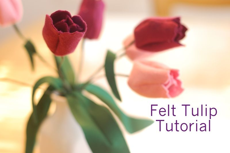 Tutorial Ramo con tulipanes de fieltro