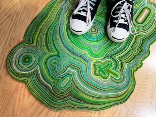 Tutorial para hacer una alfombra de fieltro, paso 1