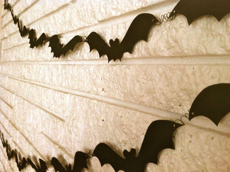 Guirlanda de Halloween con murciélagos de fieltro