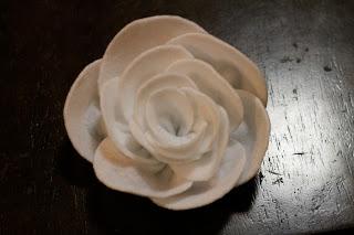 Tutorial rosa de fieltro, paso 6