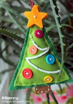 Navidad broches de fieltro ideas y trucos para broches - Arbol de navidad de fieltro ...