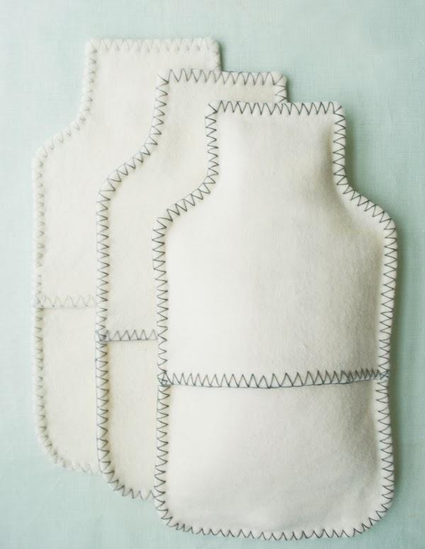 Funda o bolsa de fieltro para mantener caliente una botella