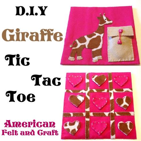 DIY jirafa tres en raya de fieltro