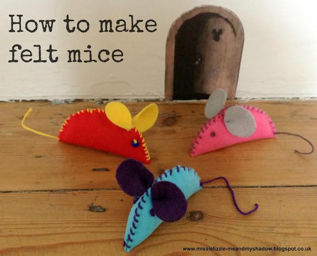 Manualidades de fieltro para niños, ratones