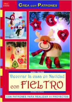 Libros manualidades en fieltro para Navidad con patrones 3