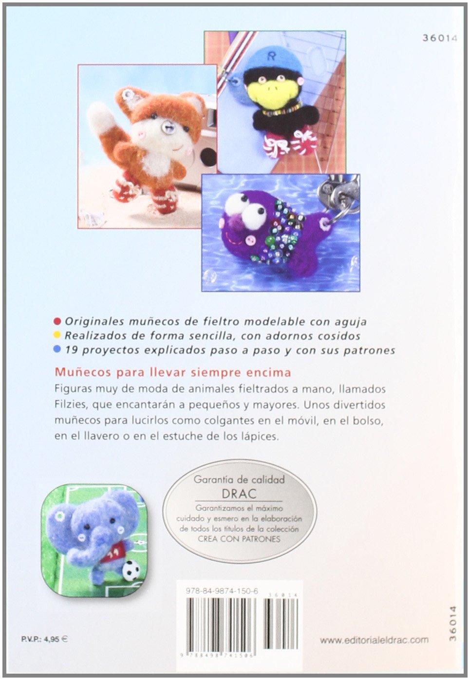 Libro con tutoriales y patrones muñecos fieltro moldeable aguja