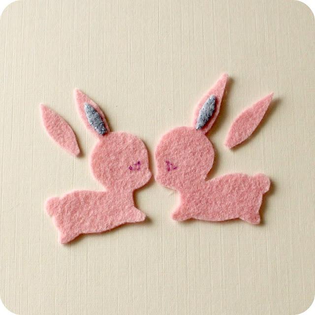 Tutorial broche o adorno pelo forma conejo, paso a paso