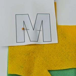 Tutorial letras alfabeto en fieltro