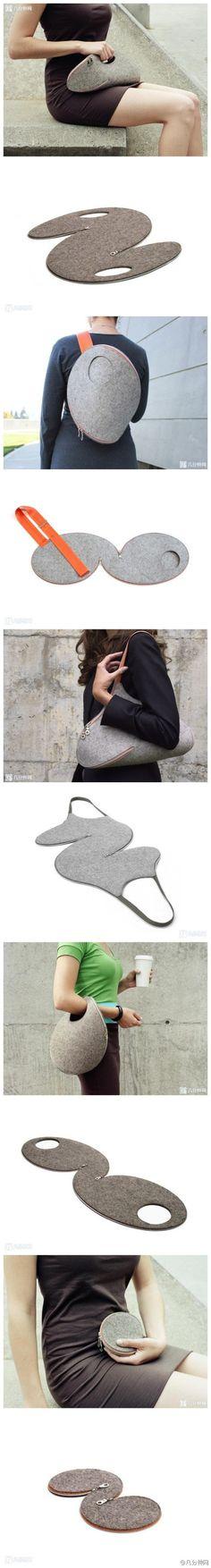 Ideas bolsos de mano y mochilas de fieltro grueso