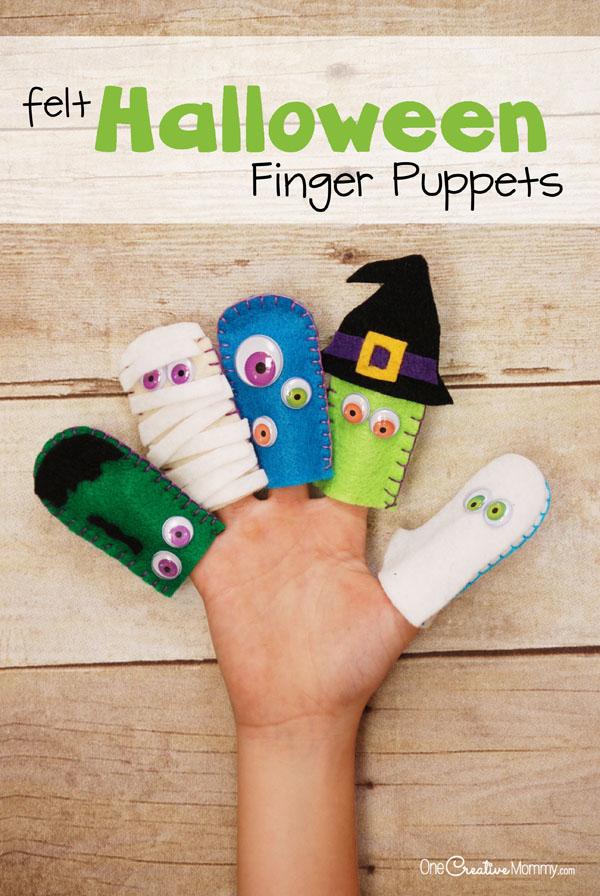 Marionetas de dedo en fieltro para Halloween 2