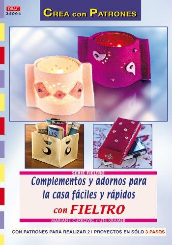 Libro con patrones, manualidades fieltro para decorar casa