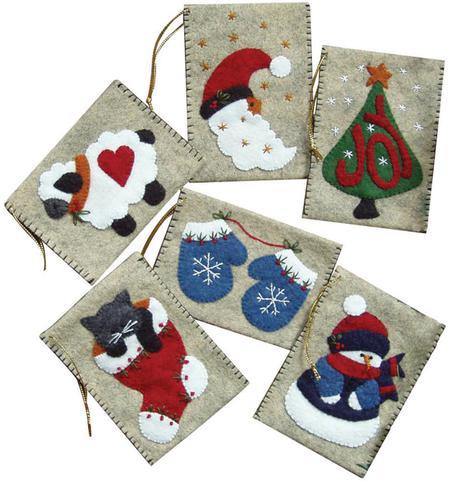 Bolsas de fieltro para regalos de Navidad 4