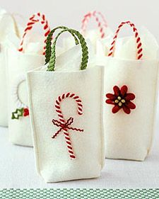 Bolsas de fieltro para regalos de Navidad 3
