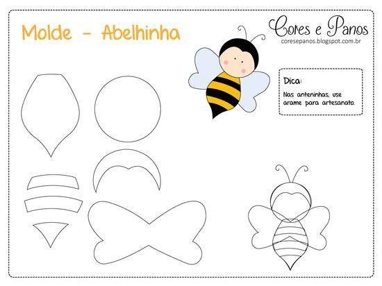 Patrón gratis para hacer una abeja de fieltro