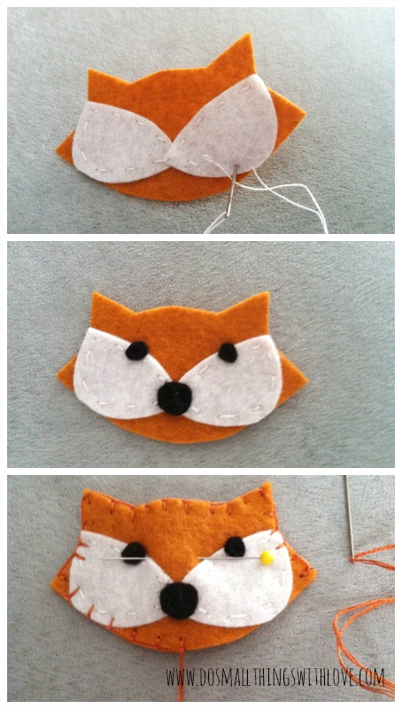 Tutorial broche zorro fieltro DIY