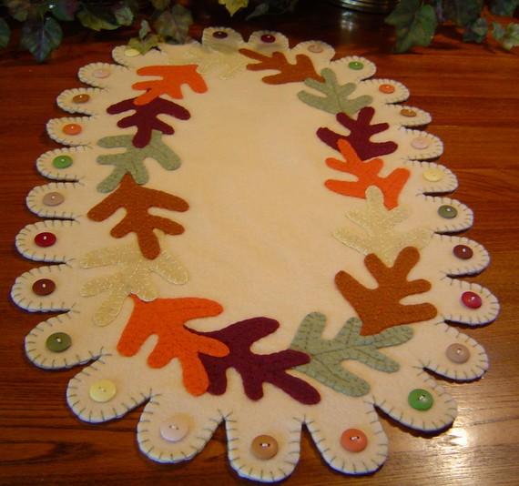 Caminos de mesa de fieltro para otoño