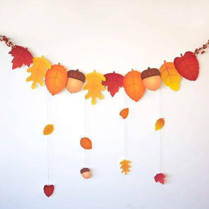 Guirnalda decorar fiesta castañada o magosto 2