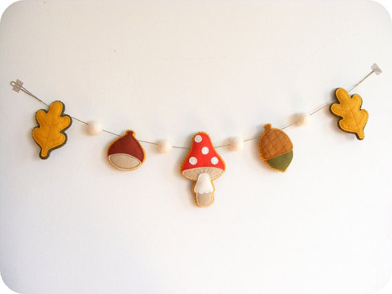 Guirnalda decorar fiesta castañada o magosto