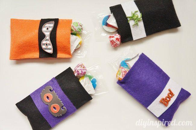 Tutorial bolsas Halloween fieltro sin coser, paso a paso