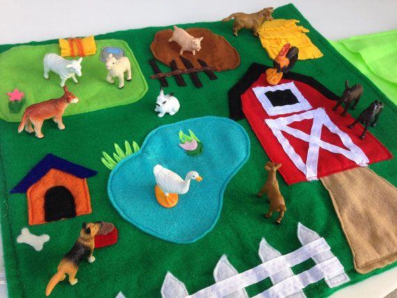 Alfombras de fieltro DIY para que los niños jueguen 4
