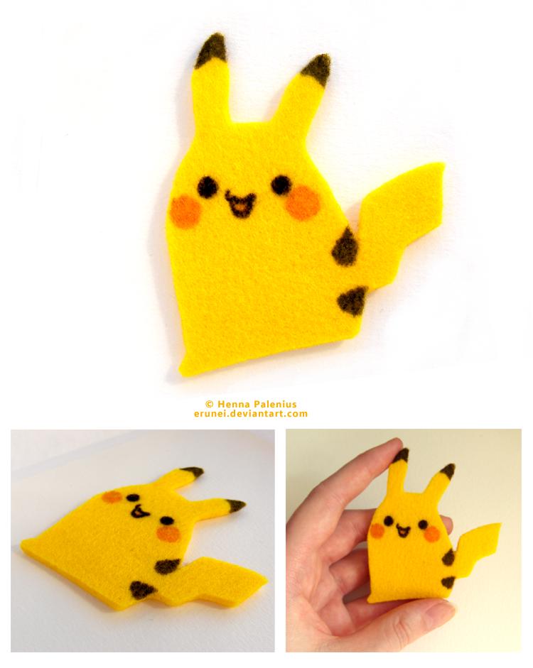 Pikachu de fieltro, manualidad para niños