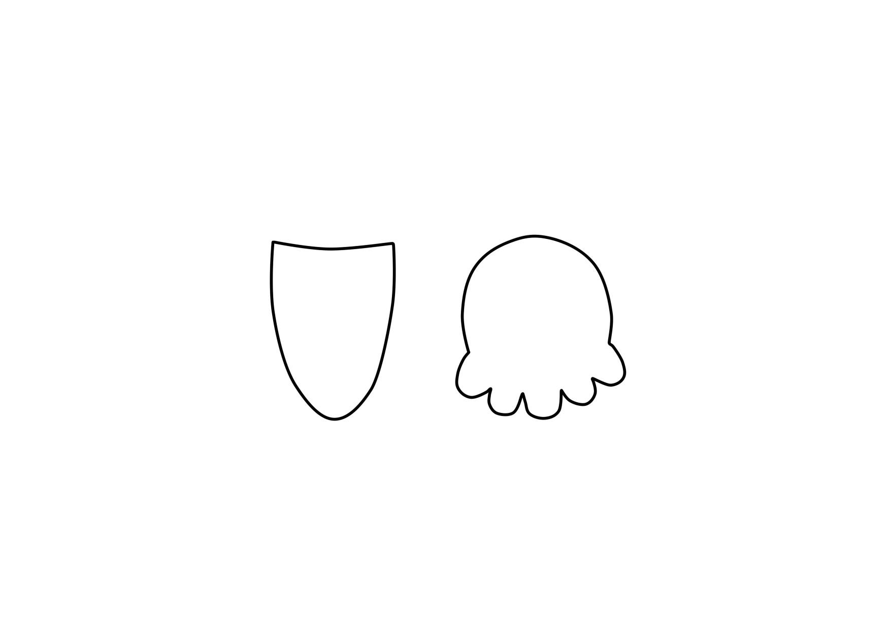 Helado de cono en fieltro estilo Kawaii, patrón y videotutorial