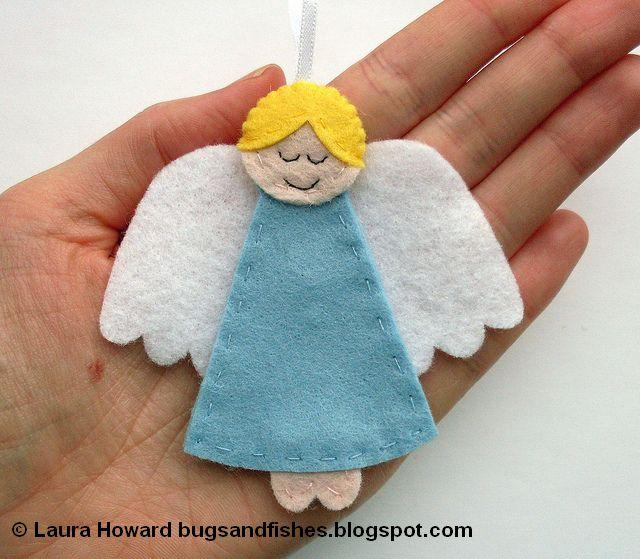 Adorno navidad archivos broches de fieltro for Angel decoration template