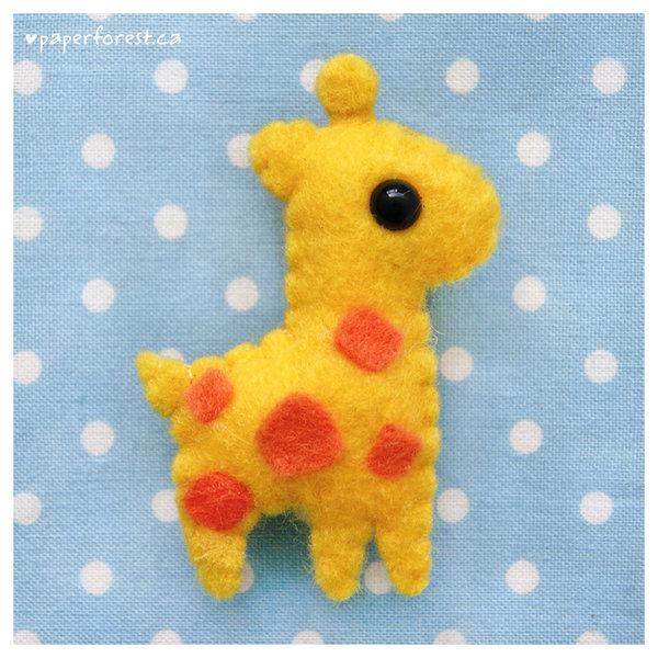 Peluche de fieltro de jirafa, estilo kawaii