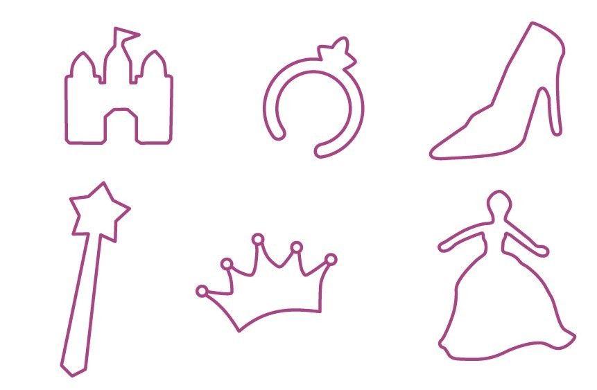 Plantillas para adornos de princesas en fieltro