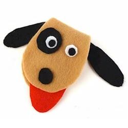 Adorno de fieltro con forma de perro, muy fácil, ideal para niños