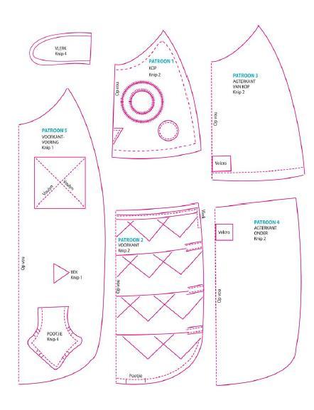 Manualidad de fieltro o tela con forma de búho, patrón gratuito