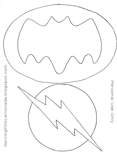 Logo batman y flash fieltro