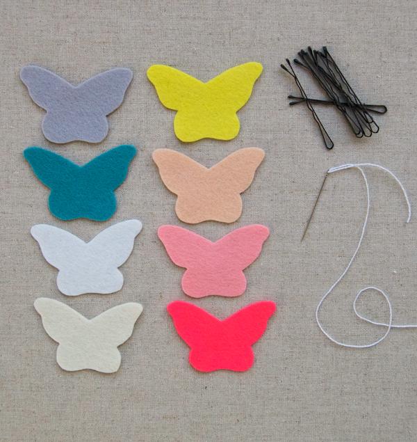 Tutorial paso a paso, clip pelo forma mariposa