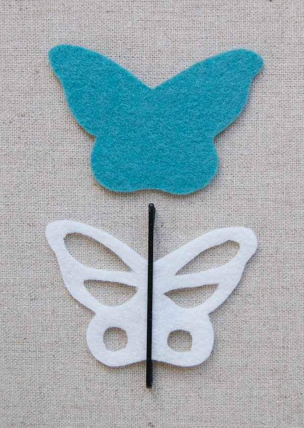 Tutorial paso a paso, clip pelo forma mariposa 1