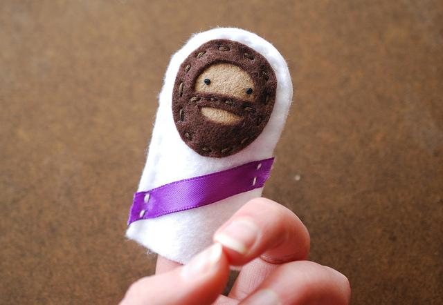 Marioneta de dedo de Jesús para Semana Santa